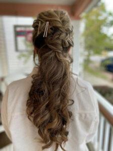 Wedding hair stylist